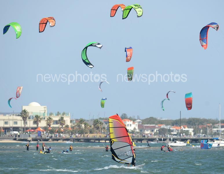 Windsurfers At St Kilda Beach