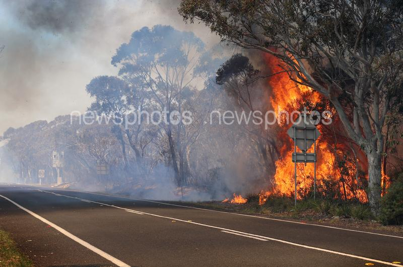 Back-Burning Operations In The Blue Mountains