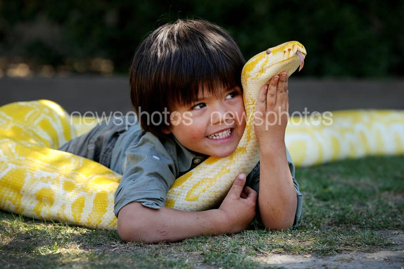 Charlie Parker With 'Baby' The Albino Burmese Python