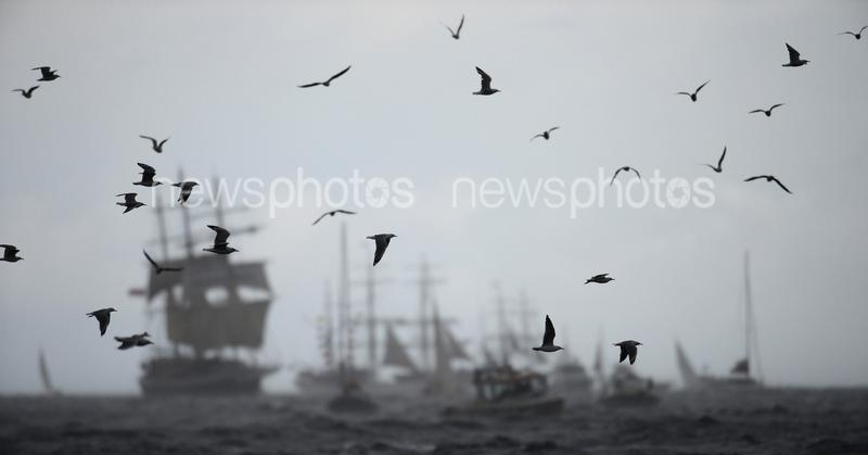 Tall Ships Enter Sydney Harbour For The Fleet Review