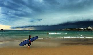 Storm Front Moves Over Sydney