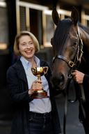 Gai Waterhouse With 'Fiorente' At Flemington Stables