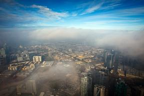 Early Morning Fog Over Melbourne