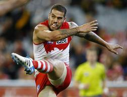 Lance Franklin in action